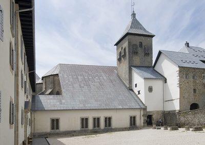 Cubiertas iglesia Coleiata Roncesvalles