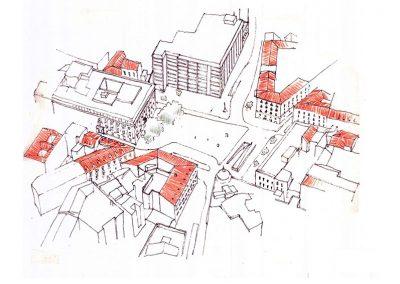 Plaza Jacinto Benavente_Axonometrica Original
