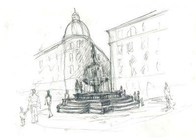 Plaza Jacinto Benavente_Dibujos Propuesta 4