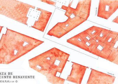 Plaza Jacinto Benavente_Planta Histórica