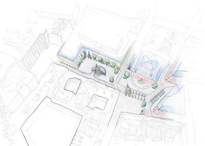 Plaza de las Descalzas_Axonométrica propuesta