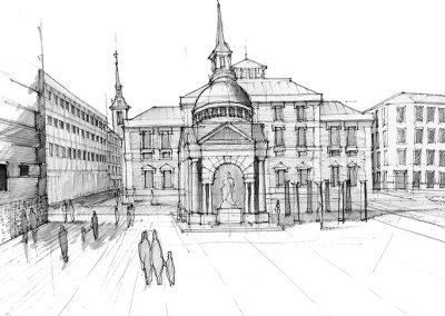 Plaza de las Descalzas_Dibujo propuesta
