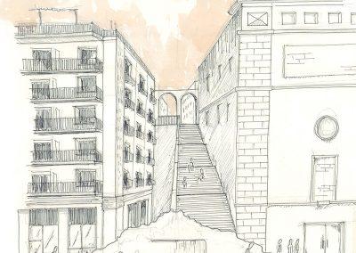 Plaza de los Mostenses_desnivel propuesta