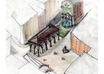 Plaza del Carmen_Axonometría propuesta