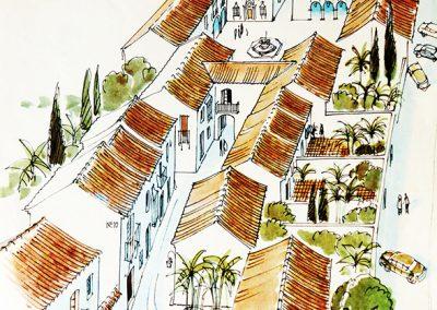 Pueblo López, Fuengirola - Dibujo- Donald Gray