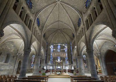 Real Colegiata Roncesvalles Iglesia Iluminacion
