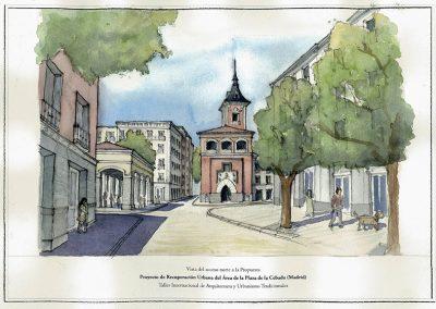 Vista de la propuesta dede la calle Toledo