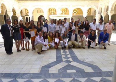 Grupo en la casa de Pilatos