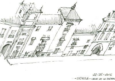 dibujo calle de sevilla