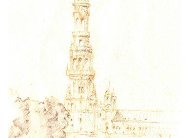 torre plaza de España en Sevilla