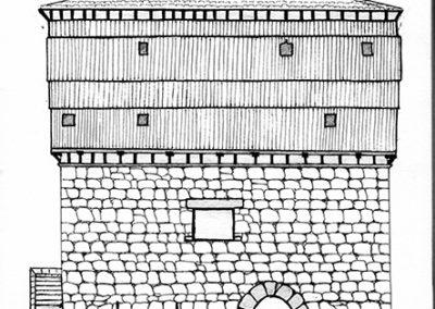 Alzado de la torre de Donamaría