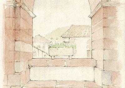Arcada de la iglesia de Ziga