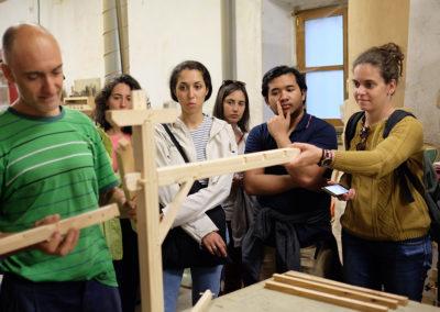 Visita a taller de carpintería