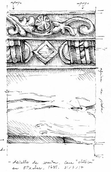 Detalle de talla en madera