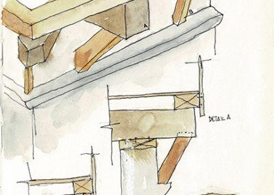 Detalles constructivos de la torre de Donamaría