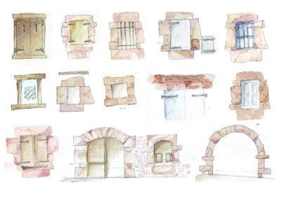 Detalles de huecos en fachada