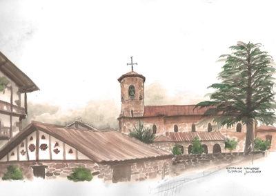 Entorno de la Iglesia de Etxalar