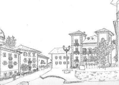 Entorno de la Plaza de Irurita