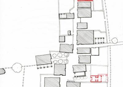 Plano del área después de la propuesta