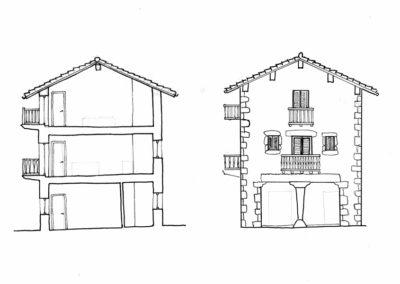 Proyecto Parcela 1 - Alzado y Sección