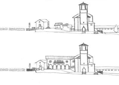 Proyecto Pza de la Iglesia - Before-After Alzado