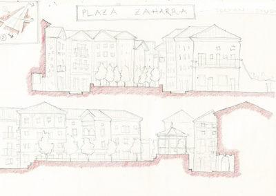 Secciones plaza ZaharraLesaka