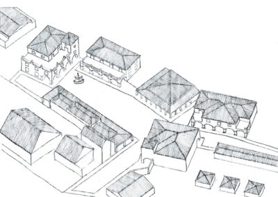 Axonometric view of the area from the South
