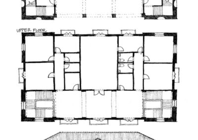 Town Hall Plans and elevations - center