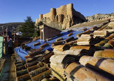 Restauración de la cubierta de la Casa de Santa Maria
